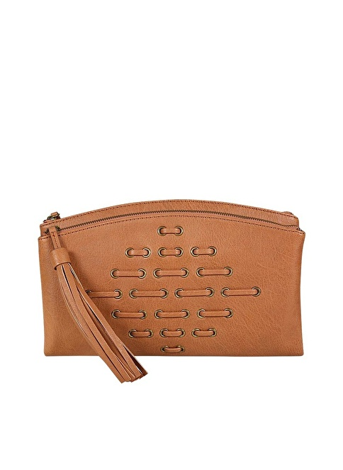 Nine West Clutch / El Çantası Taba